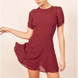 REFORMATION Gracie Dress in Color Garnet NWT